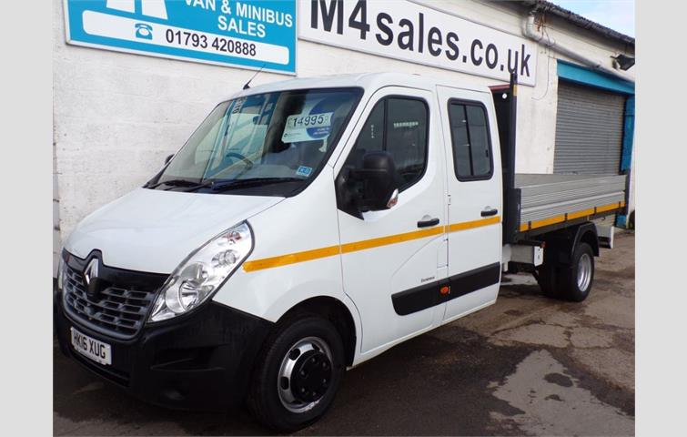 f635c66f575977 Renault Master LL35 BUSINESS DCI CREWVAN TIPPER 125PS White 2016 ...