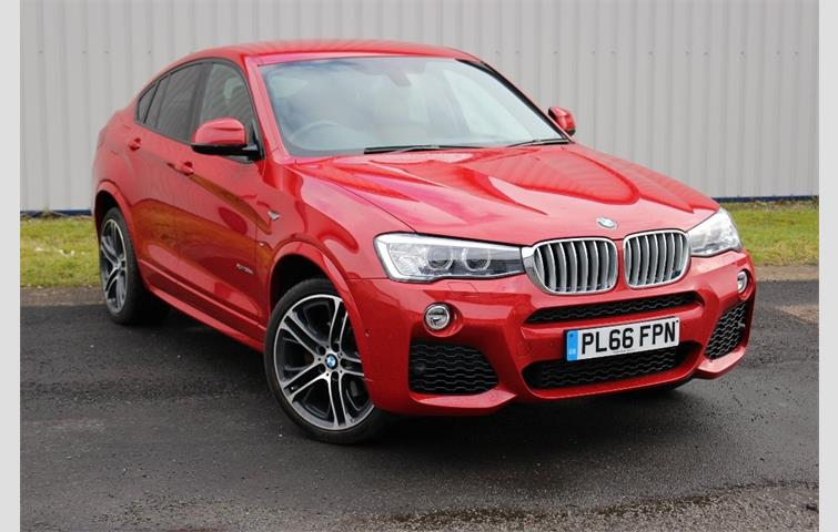 Model BMW X4 Colour Red Year 2016 Mileage 7512