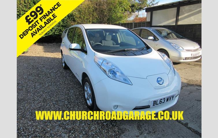 NISSAN LEAF ACENTA ALL ELECTRIC BATTERY OWNED White 2014
