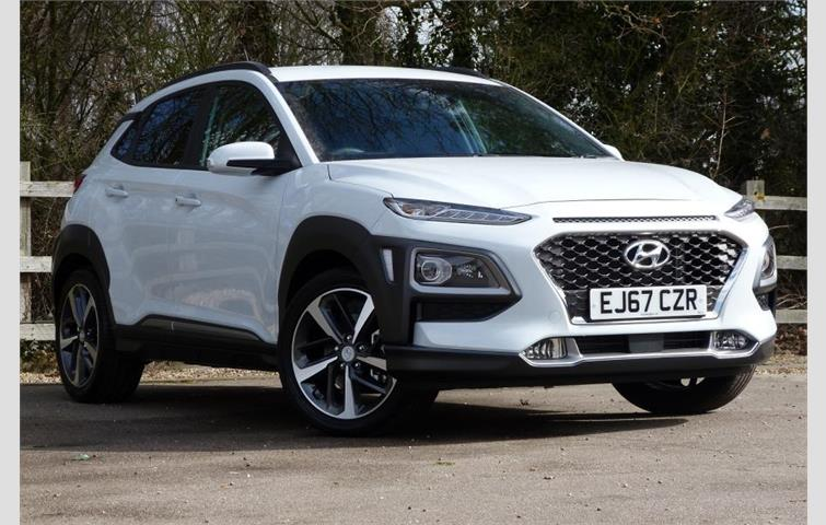 hyundai kona 1 6 tgdi 177ps premium gt 4wd white 2017 ref 5341602. Black Bedroom Furniture Sets. Home Design Ideas