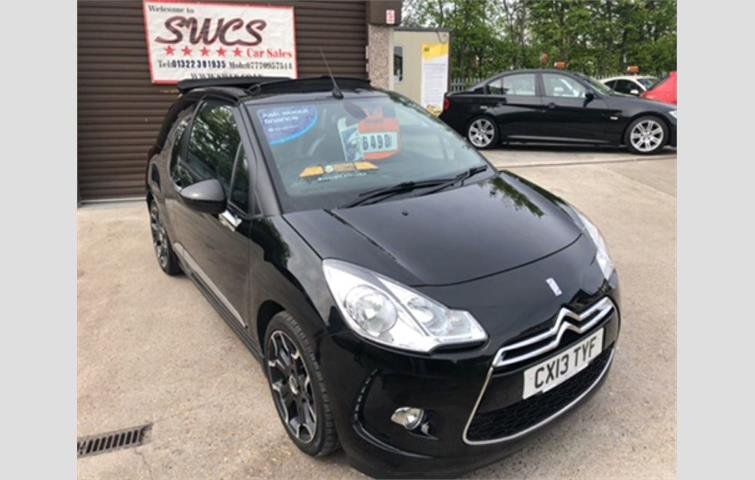 Make: Citroen, Model: Ds3, Colour: Black, Year: 2013, Mileage: 55,000, Fuel: Petrol, Transmission: Manual, Body Type: Convertible, Price: £5,490, Advert ID: 5547810