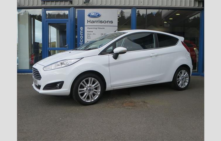 Ford Fiesta  With Manual Transmission Hatchback In White Colour With  Miles On