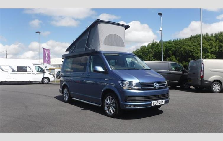 Volkswagen California 2018 2 0 L Engine With Automatic Transmission In Blue Colour 585 Miles