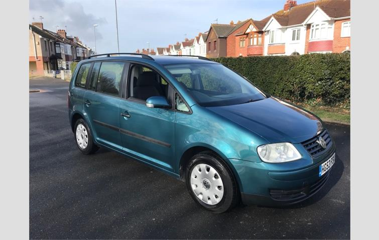 Volkswagen Touran 19 Tdi Pd S 5dr 5 Seats Green 2003 6000558