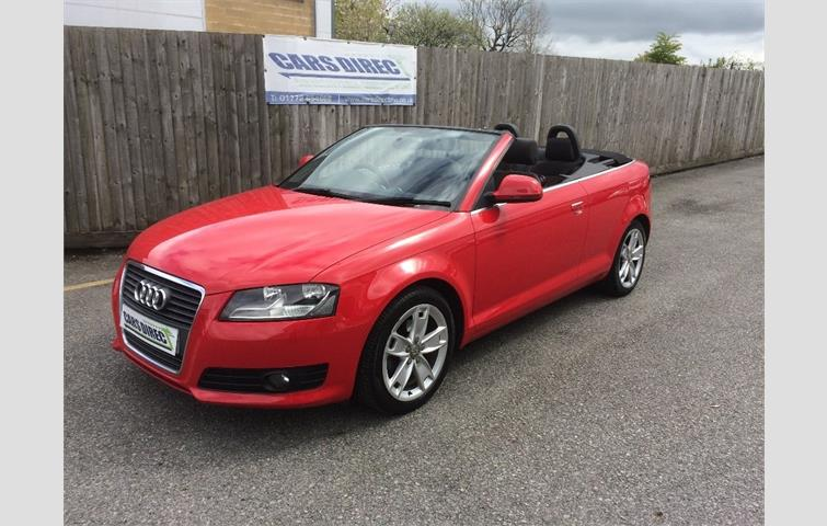 Audi A3 2008 2 0 L Sel Engine With Manual Transmission Convertible In Red Colour