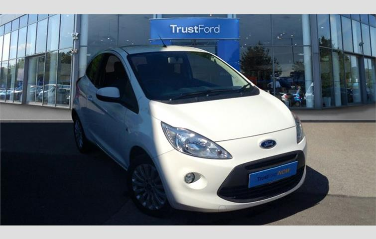 Ford Ka  L With Manual Transmission Hatchback In White Colour With