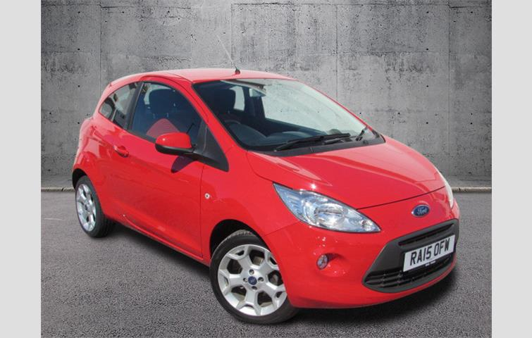 Ford Ka  L Petrol Engine With Manual Transmission Hatchback In Red Colour
