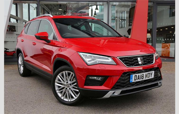 seat ateca suv 1 6 tdi 115ps xcellence ecomotive 5dr red 2018 ref 6339560. Black Bedroom Furniture Sets. Home Design Ideas
