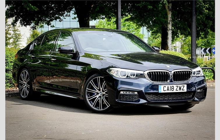 BMW 5 Series 540i XDrive M Sport Saloon Black 2017