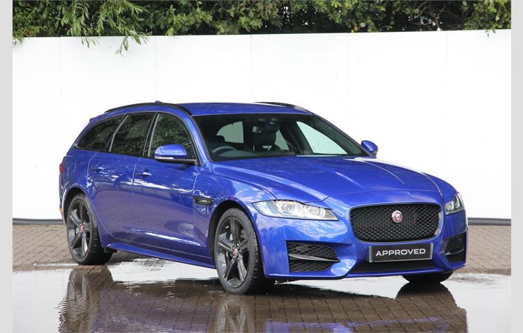 jaguar xf 180 rsport 5dr auto blue 2018 ref 6453315. Black Bedroom Furniture Sets. Home Design Ideas