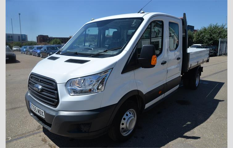 efd579febc Ford Transit 2.2 TDCi 125ps Double Cab Chassis White 2016