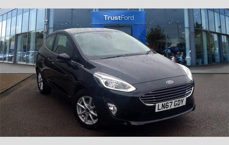 Ford Fiesta 2017 1 0 L Engine With Manual Transmission Hatchback In Black Colour