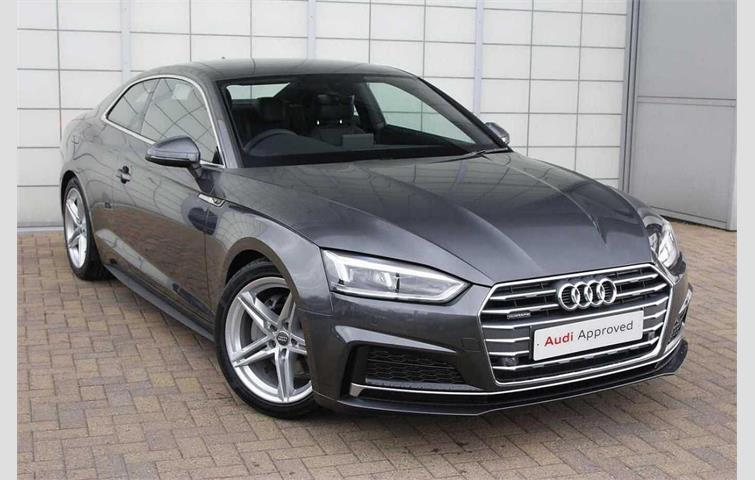 audi a5 coupe s line 2.0 tdi 190 ps 6speed grey 2017 | ref: 6691973