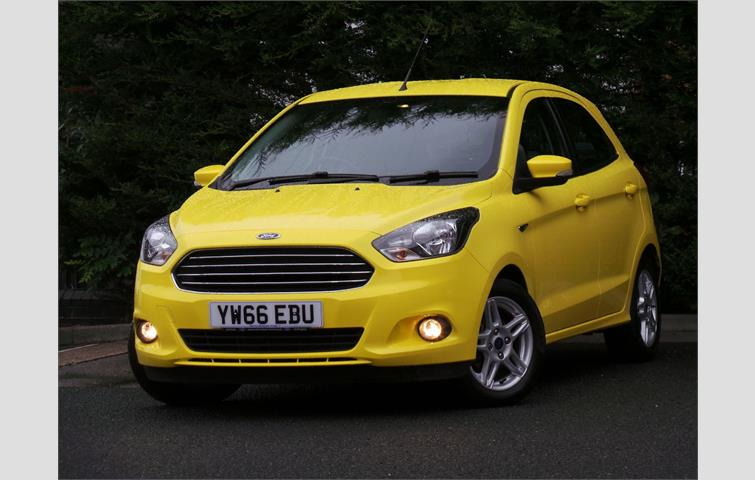 Ford Ka  L Petrol Engine With Manual Transmission Hatchback In Yellow Colour