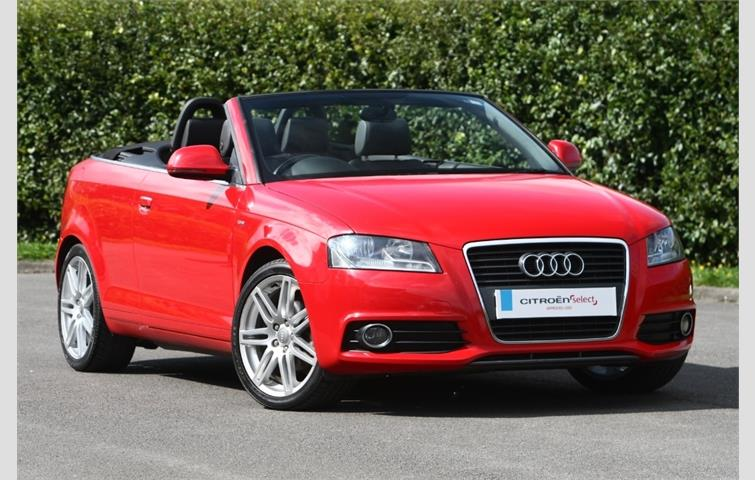 Audi A3 2009 2 0 L Sel Engine With Manual Transmission Convertible In Red Colour