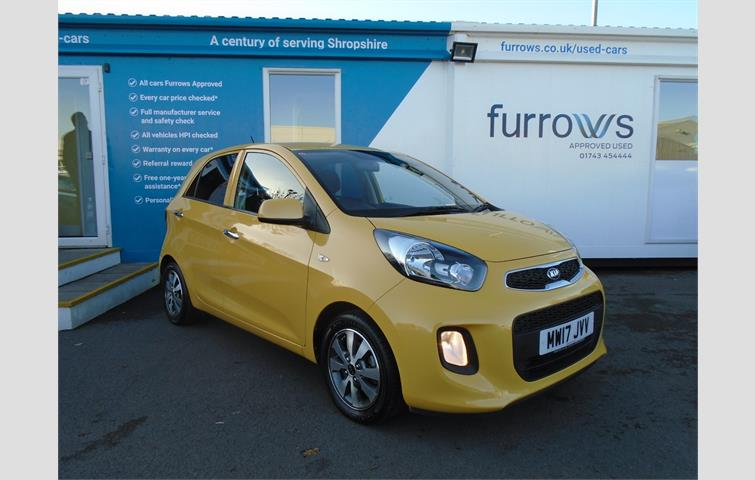 Kia Picanto 1 0 65 Se 5dr Includes Over 5 Years Warranty Very Low Mileage High Spec And Stunning Colour Yellow 2017 Ref 7157694
