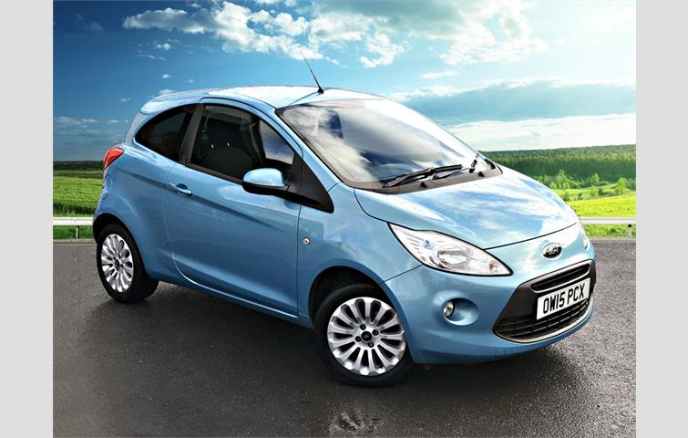 Ford Ka  L Petrol Engine With Manual Transmission Hatchback In Blue Colour