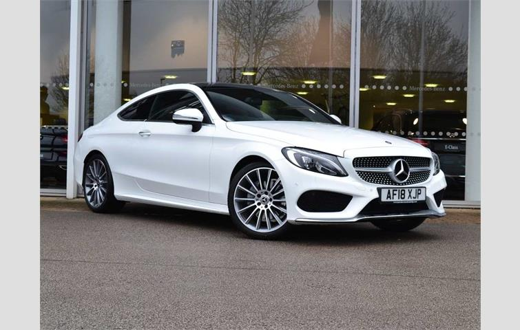 Mercedes C Class Coupe White 2018