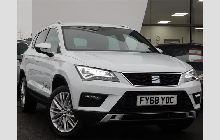 seat ateca 1 5 tsi evo xcellence dsg 150ps white 2018. Black Bedroom Furniture Sets. Home Design Ideas