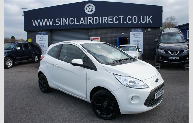 Ford Ka  L Engine With Manual Transmission Hatchback In White Colour With