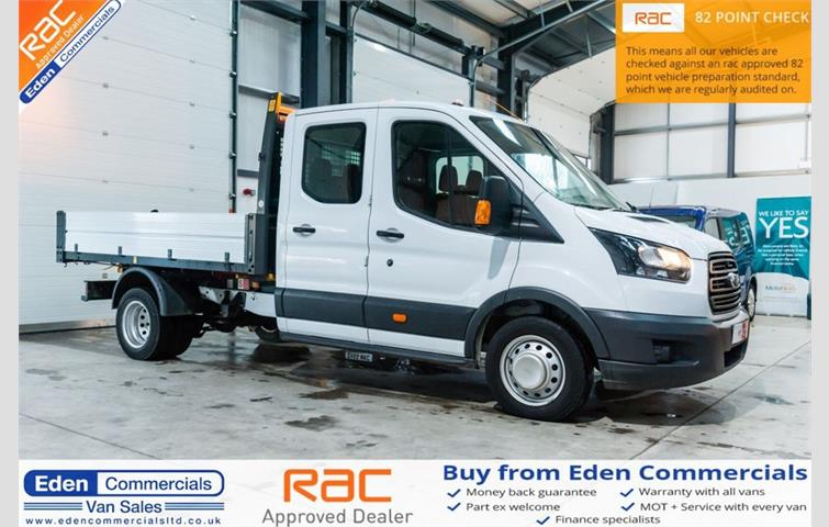 29bcd63334 Ford Transit 2.0 TDCi 130ps H2 Van 7 seat cage tipper EURO 6 White ...