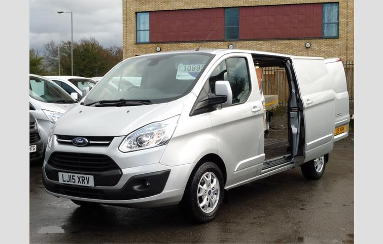 129953e4ed FORD TRANSIT CUSTOM 290 125 LIMITED L2H1 LWB IN SILVER WITH AIR ...