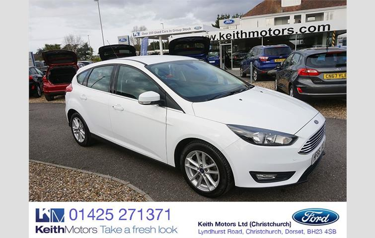 FORD FOCUS 1 0 ECOBOOST ZETEC EDITION 125PS SAT NAV White