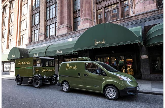 Electric Nissan van added to Harrods delivery fleet