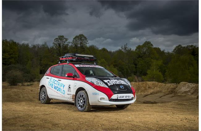 Nissan's electric Leaf set to compete in 10,000 mile Mongol rally